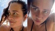 Alessandra Negrini posa de biquíni: 'Acordei com vontade de voar'
