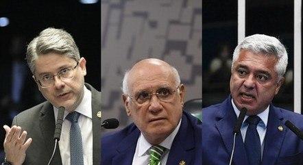 Senadores Alessandro, Lasier e Olimpio