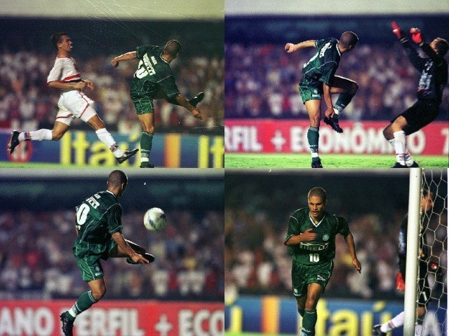 Por ironia, um dos gols mais inesquecíveis de Alex foi contra o São Paulo. Chapéu em Ceni