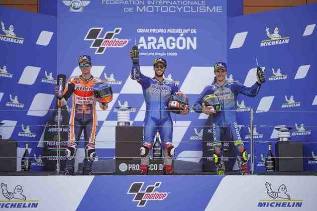 Álex Rins fez as pazes com a vitória na temporada 2020. O espanhol venceu o GP de Aragão, décima etapa do ano