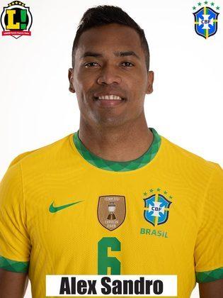 Alex Sandro - 6,0 - Foi o escolhido para substituir Renan Lodi, após o intervalo. Não apareceu tanto na partida, mas não comprometeu.