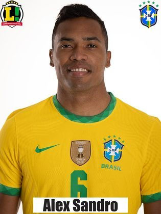 Alex Sandro - 7,0 - Muito bem na defesa, marcou com eficiência em seu setor. No apoio, surgiu como elemento surpresa e marcou o gol da vitória da seleção brasileira. Ainda no primeiro tempo, teve uma boa chance e chutou de fora da área.