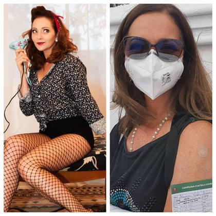 AlexandraRichter foi vacinada contra acovid-19no dia 14 de maio, no Rio de Janeiro. A atriz contou que já pôde ser imunizada, poispertence ao grupo de pessoas com comorbidades.