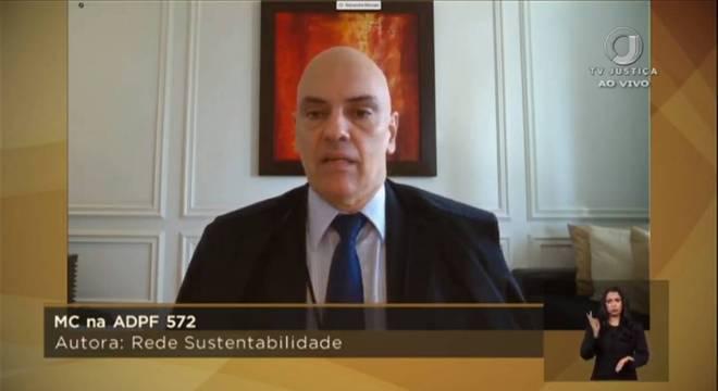 Alexandre de Moraes leu seu voto no inquérito das fake news