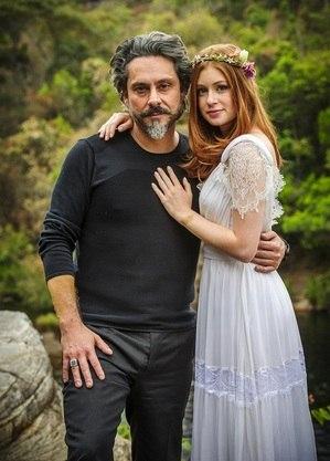 """Alexandre Nero e Marina Ruy Barbosa em """"Império"""""""