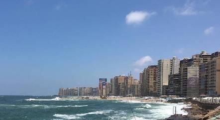 Cidade de Alexandria, no norte do Egito