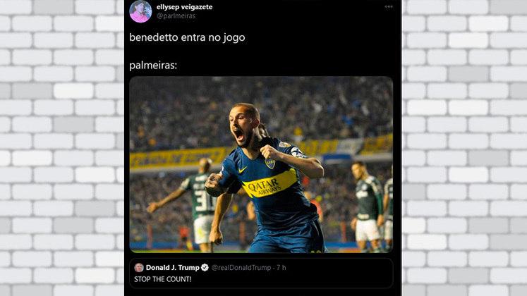 Algoz do Palmeiras em 2018, o Boca Juniors de Benedetto foi lembrado