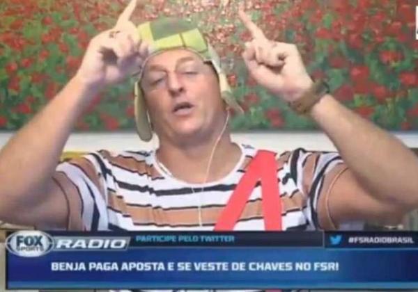 Alguns anos depois, em 2020, o apresentador perdeu outra aposta relacionada com o São Paulo. Benja apostou que o Tricolor do Morumbi se classificaria diante do Mirassol, pelo Campeonato Paulista. Com a eliminação do São Paulo, Benjamin Back apresentou o Fox Sports Radio vestido de Chaves.
