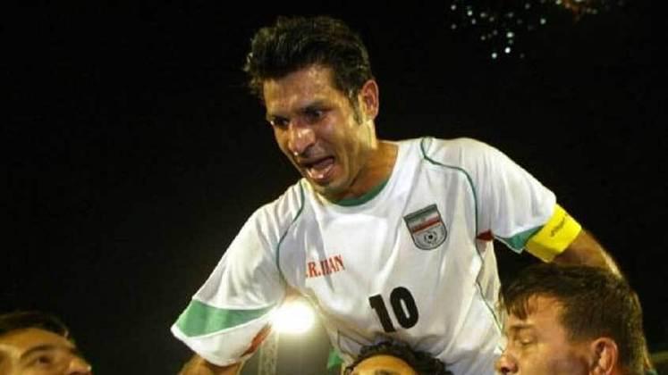 Ali Daei: 109 gols em 149 jogos pela seleção do Irã.