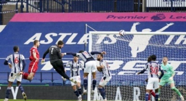 Alisson gol - Liverpool x West Bromwich