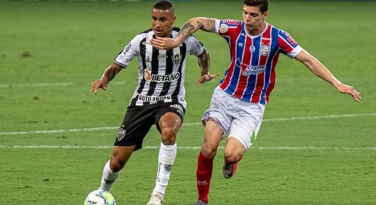 Jogo entre Atlético-MG e Bahia foi bastante disputado