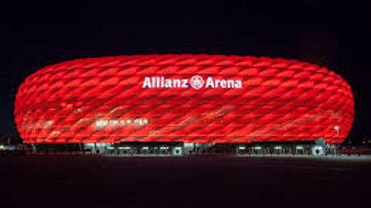 Allianz Arena, em Munique, na Alemanha.