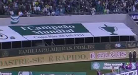 Allianz Parque homenageia 'campeões mundiais'
