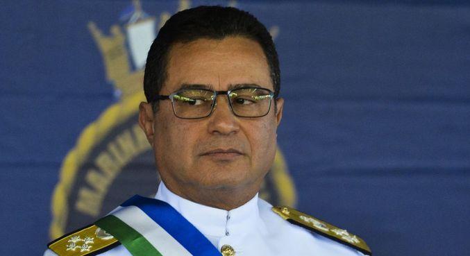 O almirante Almir Garnier, novo comandante da Marinha Brasileira