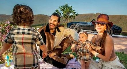 Alok e família em piquenique
