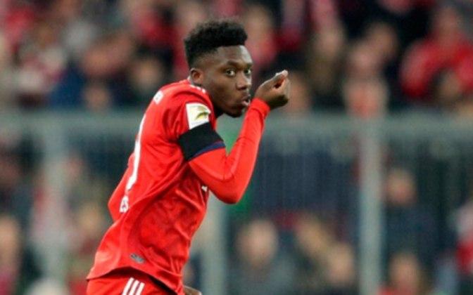 Alphonso Davies – O defensor do Bayern de Munique é avaliado em 80 milhões de euros (cerca de R$ 528 milhões).