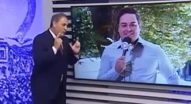 O apresentador Stanley Gusman (esq) pode ter que pagar R$ 200 mil