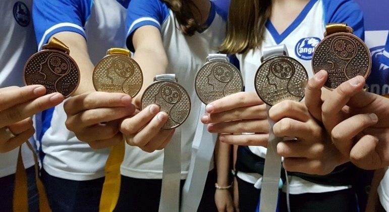 Medalhas conquistadas pelos alunos na última edição da Olimpíada Nacional de Ciência