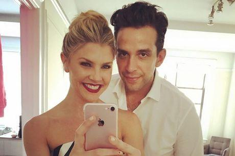 Amanda postou lembranças com o marido