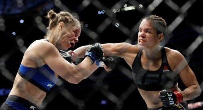 A bela Ronda descobriu a potência dos golpes de Amanda. O UFC chegava a outro patamar