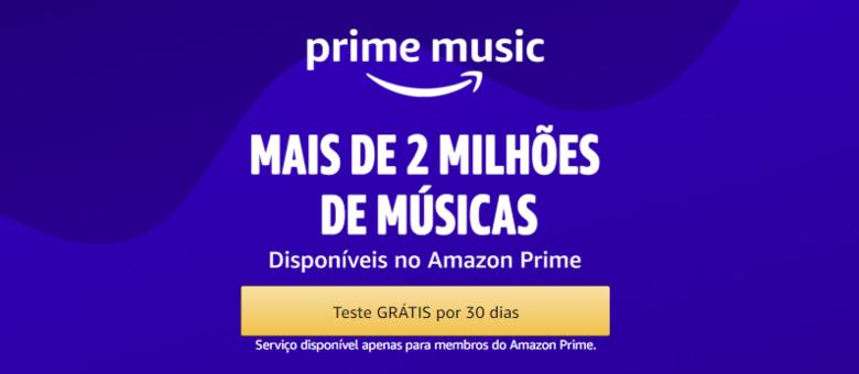 Assinando Amazon Prime você automaticamente tem Amazon Music e mais de 2 milhões de músicas para curtir a hora que quiser