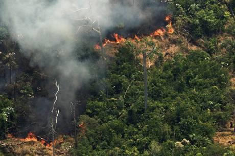 Incêndios atingem área do Brasil, Bolívia e Paraguai