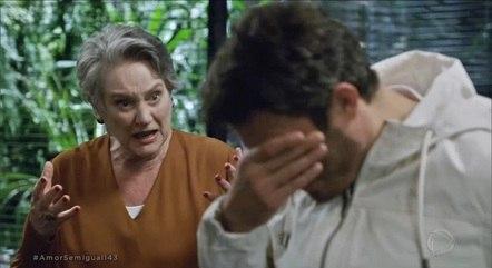 Dona Norma tentou convencer o neto a assumir os erros