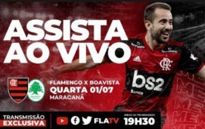 Amparado pela MP 984, que permite que o clube mandante escolha a forma como vai transmitir o Campeonato Carioca, o Rubro-Negro exibiu o jogo com o Boavista na FlaTV e nas suas redes sociais. A partida atingiu um recorde: pico de 2,2 milhões e 14 milhões de views.