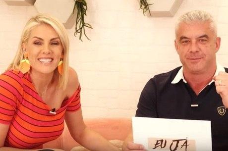 Ana gravou com o marido no novo estúdio do canal
