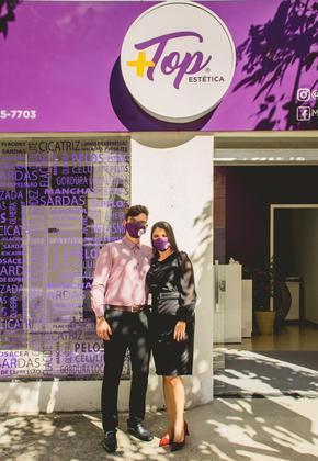 DIA DOS NAMORADOS: O casal Ana Karen Marques e João Marcos de Moraes são donos da franquia Mais Top Estética