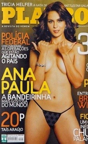 Ana, bandeira e capa de Playboy
