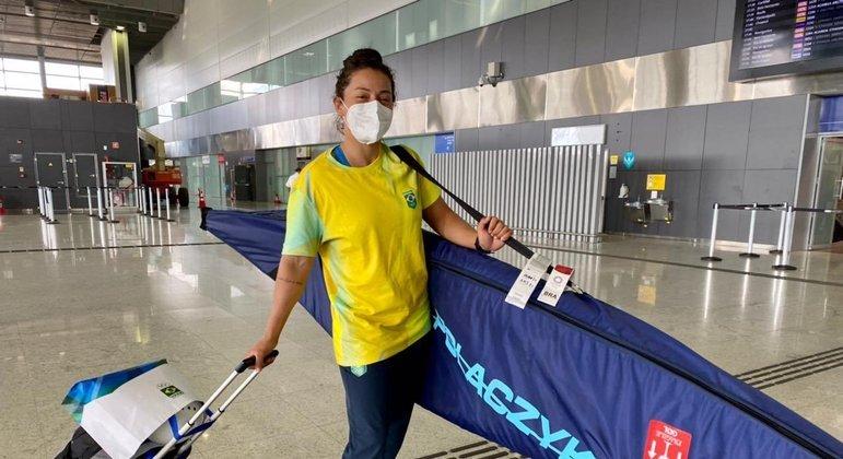Ana Sálita é a primeira representante da delegação brasileira a chegar a Tóquio