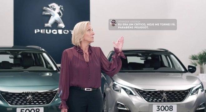 Frame do vídeo principal da campanha Peugeot falando sobre o serviço Total Care