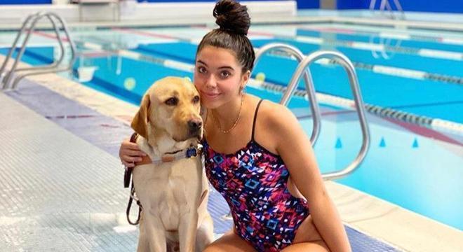 Radar auxilia nadadora nos treinos para melhorar sua performance