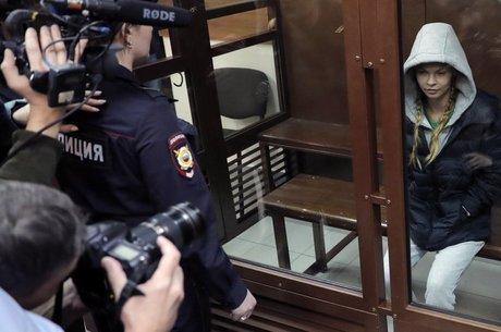 A modelo bielorrussa foi levada ao tribunal em Moscou este mês acusada de envolvimento em prostituição, mas foi logo libertada
