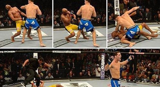 Anderson foi brincar, com Weidman, lutador inferior. Mergulhou na decadência