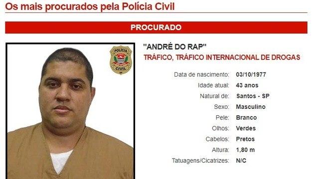André do Rap não foi mais encontrado depois de sair de penitenciária no interior de SP