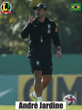 André Jardine - 9,0 - Estratégia do treinador deu certo ao colocar Richarlison para atuar perto de Matheus Cunha no comando de ataque e confundiu a marcação alemã. No segundo tempo, poupou alguns atletas de forma inteligente.