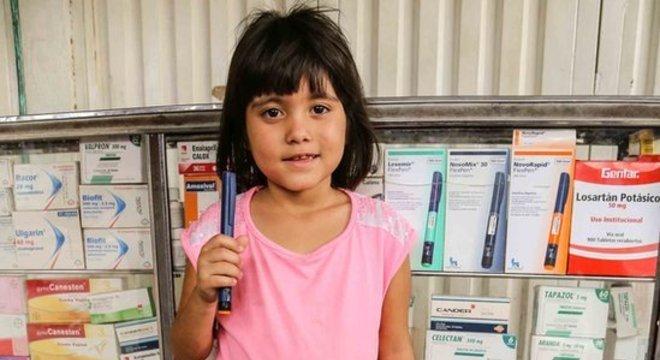 Andrea poderá voltar para casa com a caneta de insulina, após ficar três dias sem a injeção