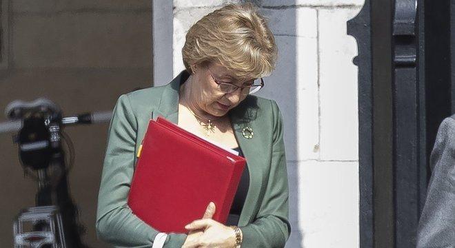 Leadsom estava encarregada de organizar os negócios do governo no Parlamento