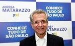 Andrea Matarazzo (PSD)Andrea Matarazzo é o candidato do Partido Social Democrata à Prefeitura de São Paulo. Ele é empresário, formado em Administração de Empresas, e professor colaborador do IBMEC. Em 1991, começou a carreira na política. Foi ministro-chefe da Secretaria de Comunicação da Presidência da República, embaixador do Brasil em Roma (Itália), presidente da Companhia Energética de São Paulo, secretário estadual da Cultura, secretário de coordenação das Subprefeituras em São Paulo, secretário municipal de Serviços e vereador. De família tradicional em São Paulo, ele é neto do industrial, Andrea Matarazzo, e sobrinho-neto do conde Francesco Matarazzo. Tem 63 anos, é casado e não tem filhos