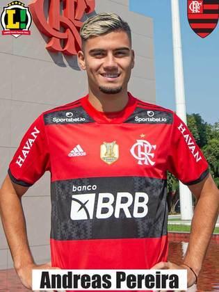 Andreas Pereira - 6,5 - Um dos poucos jogadores que tentou botar o Flamengo no jogo.  Se movimentou bem e procurou as jogadas.