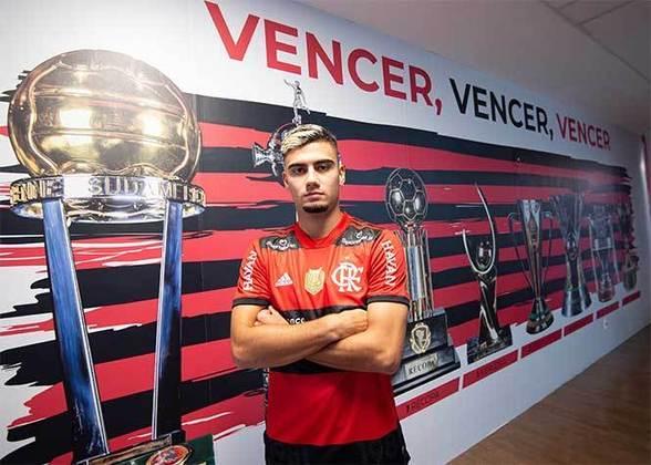 Andreas Pereira: em cinco jogos pelo Flamengo, Andreas Pereira mostrou que pode brigar pela titularidade no meio-campo Rubro-Negro. Seu único gol até aqui foi contra o Santos, pelo Brasileirão.