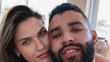 Andressa Suita chama Gusttavo Lima de 'amor' em vídeo; assista