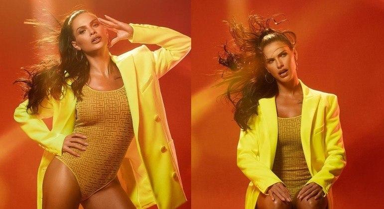Andressa Suíta com look de grife em ensaio fotográfico