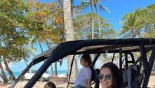 Andressa Suita curte férias na Bahia sem Gusttavo Lima
