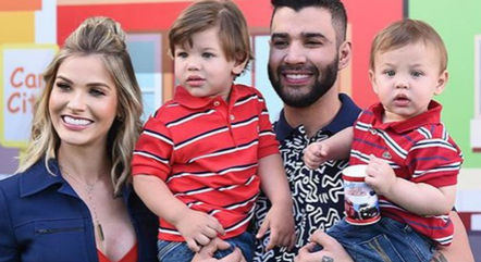 Andressa Suita e Gusttavo Lima são pais dos pequenos Gabriel, de 3 anos, e Samuel, de dois anos