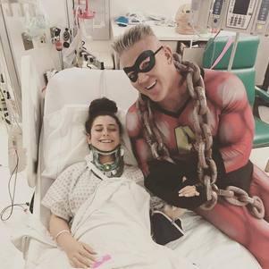 Andy Haman em hospital infantil