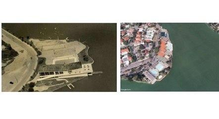 Imagens comparam projeto original e construção