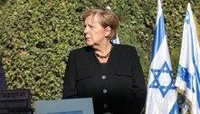 Angela Merkel expressa apoio a Israel em viagem de despedida